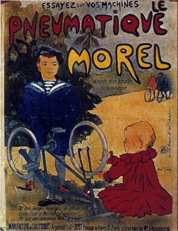 Vintage French cycling poster - le pneaumatique morel